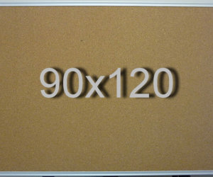 Доска пробковая в алюминиевой раме (90х120см)