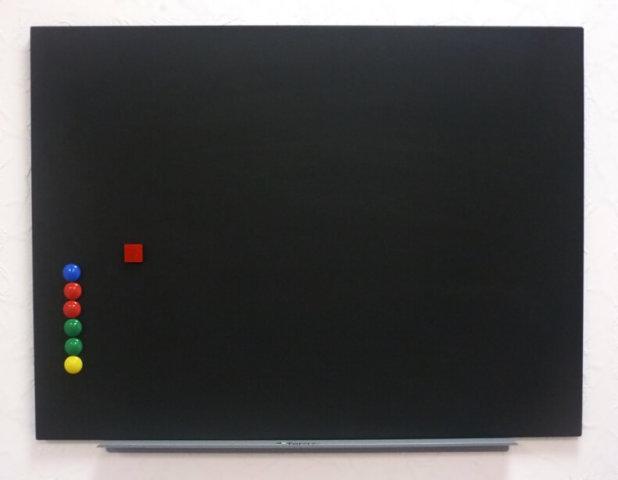 Доска меловая магнитная черная Tetris со скрытым креплением 75х100